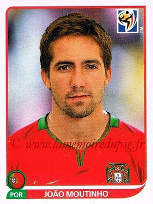 2010 - Panini FIFA World Cup South Africa Stickers - N° 554 - Joao MOUTINHO (Portugal)