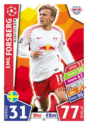 2017-18 - Topps UEFA Champions League Match Attax - N° 083 - Emil FORSBERG (RB Leipzig)