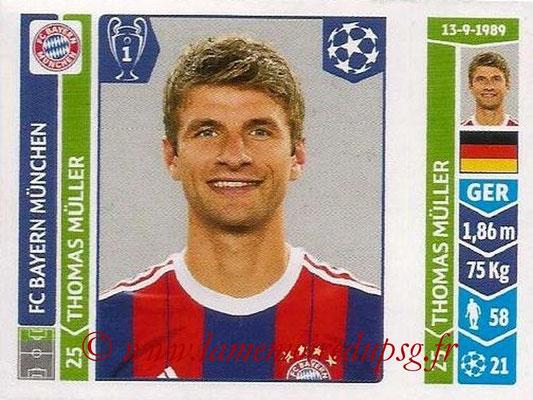 2014-15 - Panini Champions League N° 353 - Thomas Muller (FC Bayern Munich)