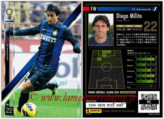 Panini Football League 2013 - PFL03 - N° 024 - Diego Milito (Inter Milan)