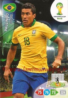 2014 - Panini FIFA World Cup Brazil Adrenalyn XL - N° 055 - PAULINHO (Brésil)