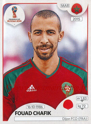 2018 - Panini FIFA World Cup Russia Stickers - N° 158 - Fouad CHAFIK (Maroc)