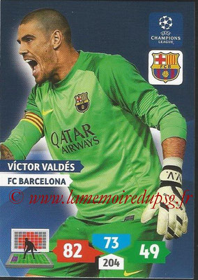 2013-14 - Adrenalyn XL champions League N° 064 - Victor VALDES (FC Barcelone)