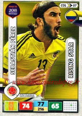 2018 - Panini Road to FIFA World Cup Russia Adrenalyn XL - N° COL07 - Sebastian PEREZ (Colombie) (Rising Star)