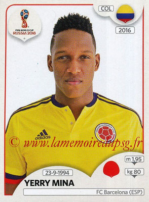 2018 - Panini FIFA World Cup Russia Stickers - N° 639 - Yerry MINA (Colombie)