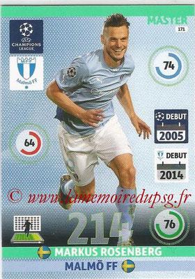 2014-15 - Adrenalyn XL champions League N° 171 - Markus ROSENBERG (Malmö FF) (Master)