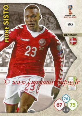 2018 - Panini FIFA World Cup Russia Adrenalyn XL - N° 090 - Pione SISTO (Danemark)