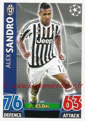 2015-16 - Topps UEFA Champions League Match Attax - N° 457 - Alex SANDRO (Juventus FC)