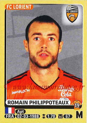 2015-16 - Panini Ligue 1 Stickers - N° 186 - Romain PHILIPPOTEAUX (FC Lorient)