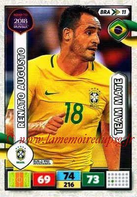 2018 - Panini Road to FIFA World Cup Russia Adrenalyn XL - N° BRA11 - Renato AUGUSTO (Brésil)