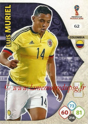 2018 - Panini FIFA World Cup Russia Adrenalyn XL - N° 062 - Luis MURIEL (Colombie)
