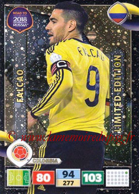 2018 - Panini Road to FIFA World Cup Russia Adrenalyn XL - N° LE-FA - FALCAO (Colombie) (Limited Edition)