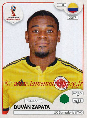 2018 - Panini FIFA World Cup Russia Stickers - N° 651 - Duvan ZAPATA (Colombie)
