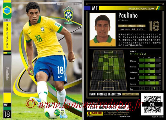 Panini Football League 2014 - PFL08P - N° 007 - PAULINHO (Brésil) (Star)