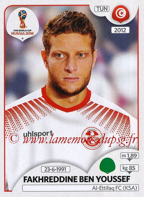 2018 - Panini FIFA World Cup Russia Stickers - N° 567 - Fakhreddine BEN YOUSSEF (Tunisie)