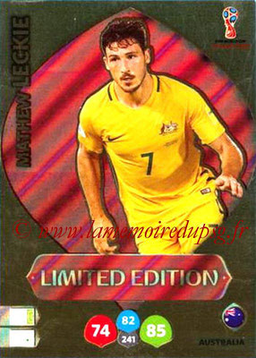 2018 - Panini FIFA World Cup Russia Adrenalyn XL - N° LE-ML - Mathew LECKIE (Australie) (Limited Edition)