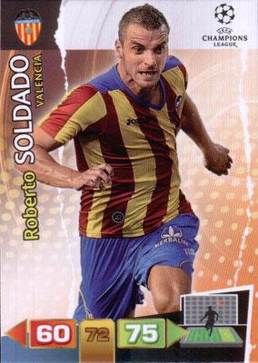 2011-12 - Panini Champions League Cards - N° 256 - Roberto SOLDADO (FC Valence)