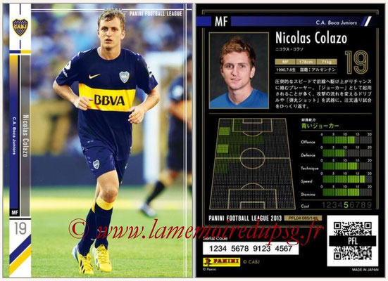 Panini Football League 2013 - PFL04 - N° 085 - Nicolas COLAZO (Boca Juniors)