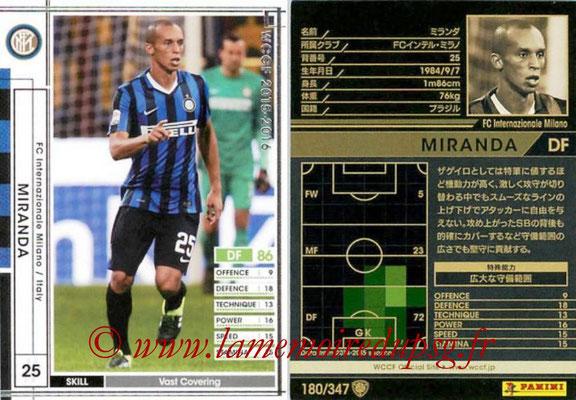 2015-16 - Panini WCCF - N° 180 - MIRANDA (FC Inter Milan)