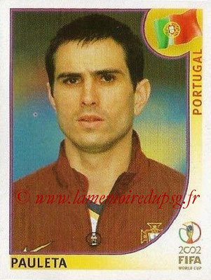 2002 - Panini FIFA World Cup Stickers - N° 310 - Pedro Miguel PAULETA (Portugal)