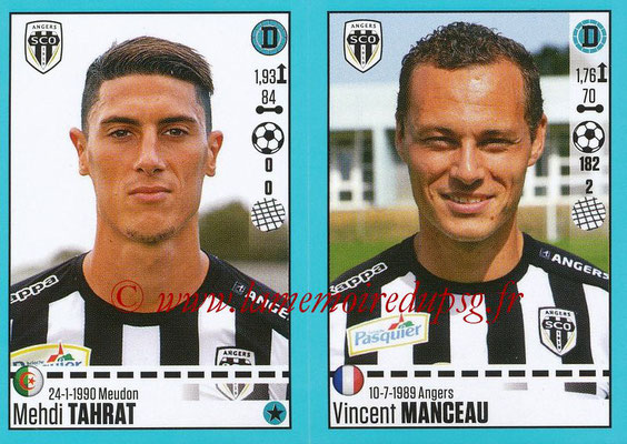 2016-17 - Panini Ligue 1 Stickers - N° 024 + 025 - Mehdi TAHRAT + Vincent MANCEAU (Angers)