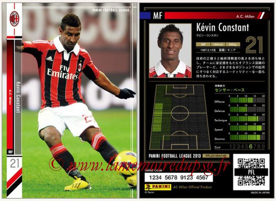 Panini Football League 2013 - PFL03 - N° 004 - Kevin Constant (Milan AC)