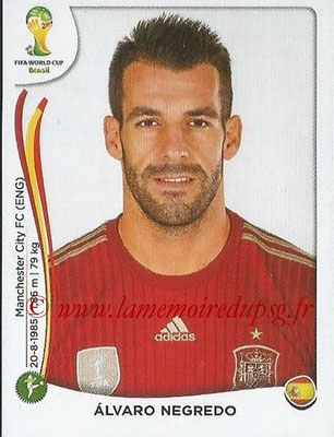 2014 - Panini FIFA World Cup Brazil Stickers - N° 126 - Alvaro NEGREDO (Espagne)