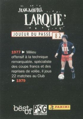 N° 082 - Jean-Michel LARQUE (Verso)