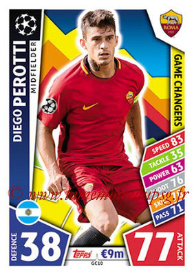 2017-18 - Topps UEFA Champions League Match Attax - N° GC10 - Diego PEROTTI (AS Roma) (Game Changers)
