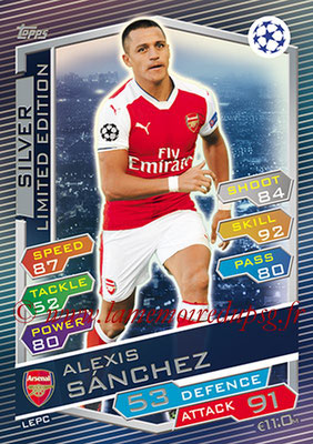 2016-17 - Topps UEFA Champions League Match Attax - N° LEPC - Alexis SANCHEZ (Arsenal FC) (Limited Edition Silver)