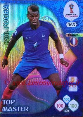 2018 - Panini FIFA World Cup Russia Adrenalyn XL - N° 465 - Paul POGBA (France) (Top Master)