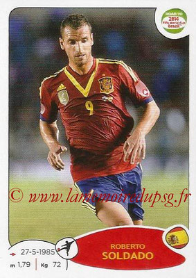 2014 - Panini Road to FIFA World Cup Brazil Stickers - N° 143 - Roberto SOLDADO (Espagne)
