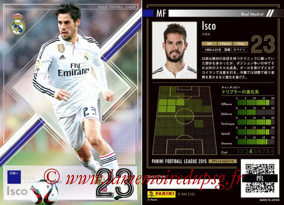 Panini Football League 2015 - PFL14 - N° 042 - ISCO (Real Madrid CF) (Star +)