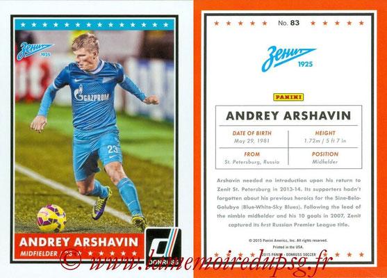 2015 - Panini Donruss Soccer - N° 083 - Andrey ARSHAVIN (FC Zenit)