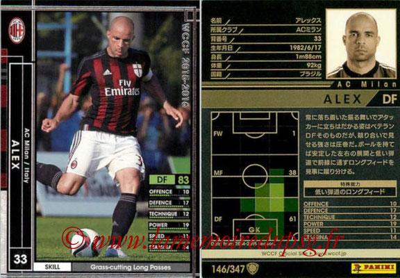 N° 146 - ALEX (2012-14, PSG > 2015-16, Milan AC, ITA)