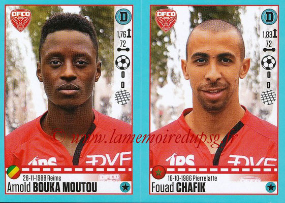 2016-17 - Panini Ligue 1 Stickers - N° 192 + 193 - Arnold BOUKA MOUTOU + Fouad CHAFIK (Dijon)