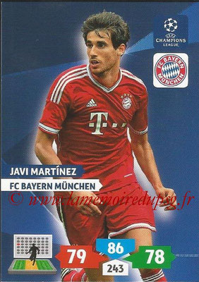 2013-14 - Adrenalyn XL champions League N° 084 - Javi MARTINEZ (FC Bayern Munich)
