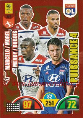 2018-19 - Panini Adrenalyn XL Ligue 1 - N° 397 - Léo DUBOIS + MARCELO + Jérémy MOREL + Ferland MENDY (Lyon) (Puissance 4)