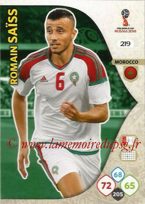 2018 - Panini FIFA World Cup Russia Adrenalyn XL - N° 219 - Romain SAISS (Maroc)