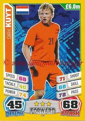 Topps Match Attax England 2014 - N° 178 - Dirk KUYT (Pays-Bas)