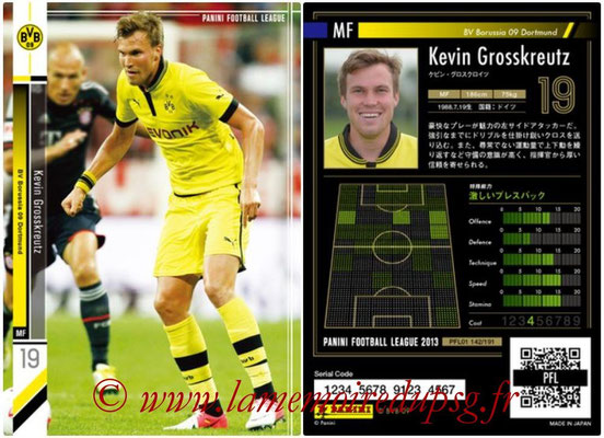 Panini Football League 2013 - PFL01 - N° 142 - Kevin Grosskreutz ( BV Borussia 09 Dortmund )