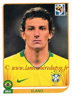 2010 - Panini FIFA World Cup South Africa Stickers - N° 498 - ELANO (Brésil)