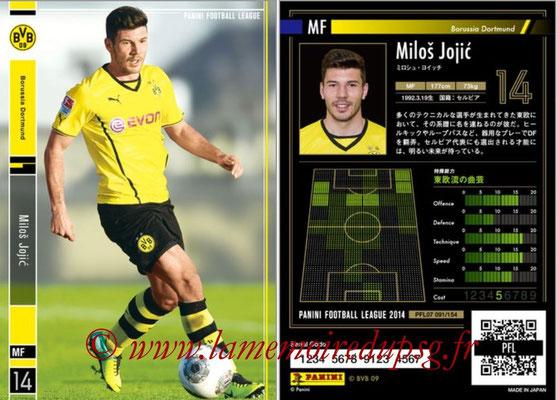 Panini Football League 2014 - PFL07 - N° 091 - Milos JOJIC (Borussia Dortmund)