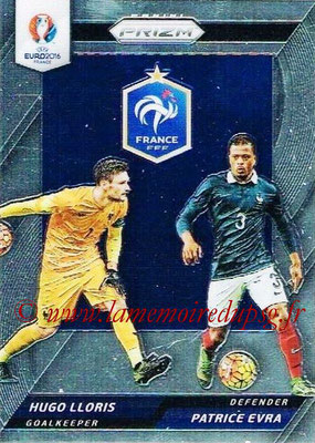 Euro 2016 Panini Prizm - N° CCD-01 - Hugo LLORIS + Patrice EVRA (France) (Country Combinaions Duals)
