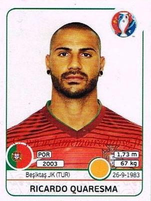 Panini Euro 2016 Stickers - N° 593 - Ricardo QUARESMA (Portugal)