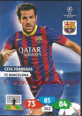 2013-14 - Adrenalyn XL champions League N° 068 - Cesc FABREGAS (FC Barcelone)