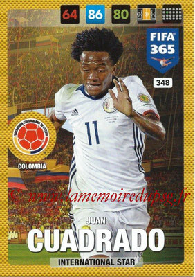 2016-17 - Panini Adrenalyn XL FIFA 365 - N° 348 - Juan GUADRADO (Colombie) (International Star)