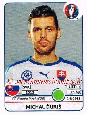 Panini Euro 2016 Stickers - N° 231 - Michal DURIS (Slovénie)