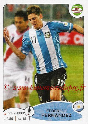 2014 - Panini Road to FIFA World Cup Brazil Stickers - N° 057 - Frederico FERNANDEZ (Argentine)