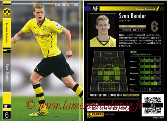 Panini Football League 2014 - PFL08 - N° 091 - Sven BENDER (Borussia Dortmund)